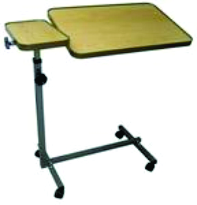 Over Bed Or Under Chair Tray Table Home Healthcare Equipment